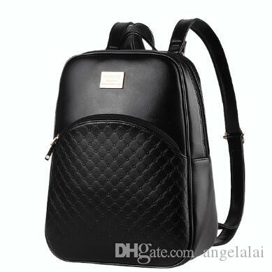 New Women Backpack PU Leather Black Shoulder School Bags For Teenagers  Girls Female Casual Travel Bags Pack Girl College Bookbag Kids Backpacks  Dakine ... a14efd38f7