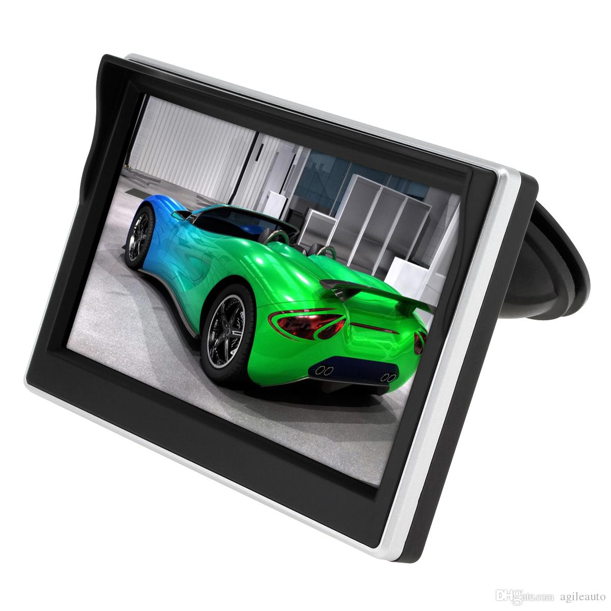 Wholesale DHL 5 Inch Car TFT LCD Monitor Parking System HD Screen for Rear View Backup Reverse Camera CMO_30A
