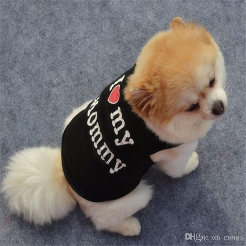 Cute Pet Dog Clothes Spring T-shirt Soft Dogs Clothes Pet Cat Clothing Summer Shirt Casual Coats For Small Pets New