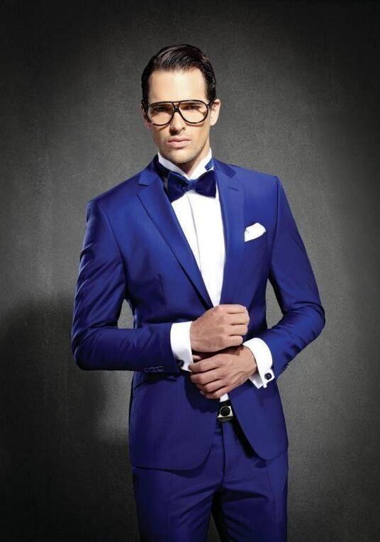 الدعاوى الزرقاء العريس البدلات الرسمية جديد وصول الزفاف حفلة موسيقية الدعاوى للرجال وصيف ارتداء أفضل رجل دعوى سترة + بنطلون