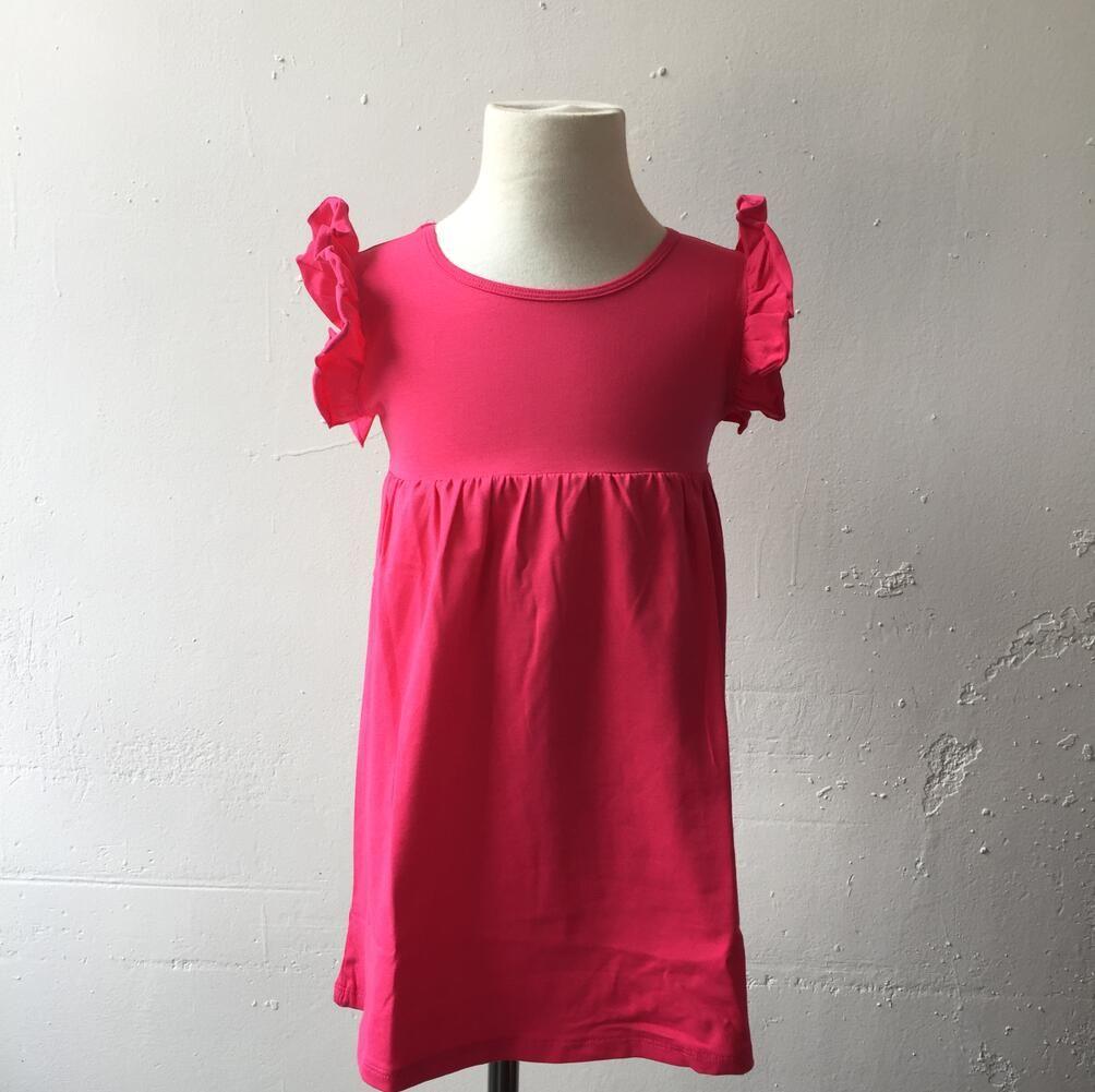 2018 Fashion Style Baby Children Party Dress Kids Flutter Sleeveless ...