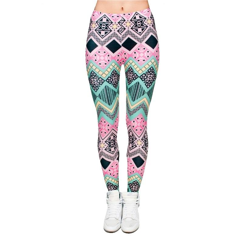 Kadın 3D Tayt Moda Grafik Tam Baskı Kız Sıska Sıkı Pantolon Sıkı oturan Elastik Ince Sprots Spor Kalem Pantolon PDDK5 RF