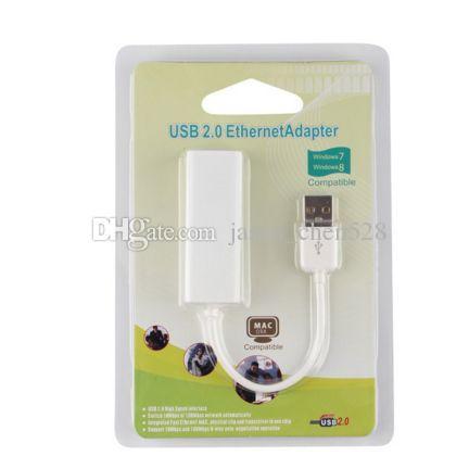 USB 2.0 ethernet adaptörü USB RJ45 USB 2.0 Yüksek Hızlı Ethernet Ağ LAN Adaptör Kartı 10/100 Adaptör PC windows7 Perakende kutusu ile 8