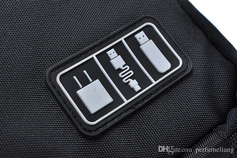New Arrival Bubm Hard Drive Earphone Cables Usb Flash Drives Storage Travel Case Digital Cable Organizer Bag F201723