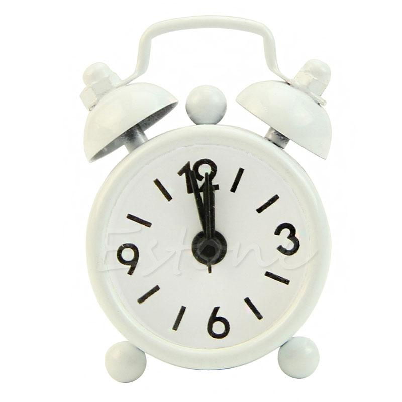 Mini Lovely Cartoon Dial Number Round Desk Alarm Clock For Kid House Decoration Kids With