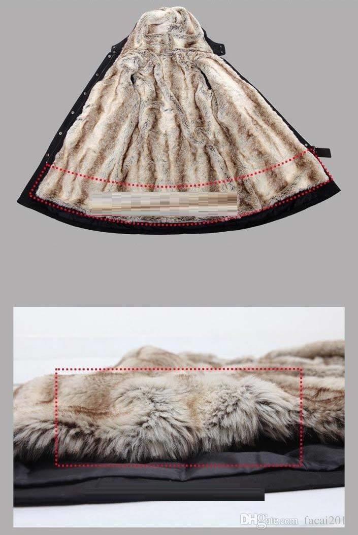 Chaud! Faux fourrure doublure Hoodies de fourrure des femmes Mesdames manteaux d'hiver chaud manteau long manteau coton vêtements thermique parkas plus
