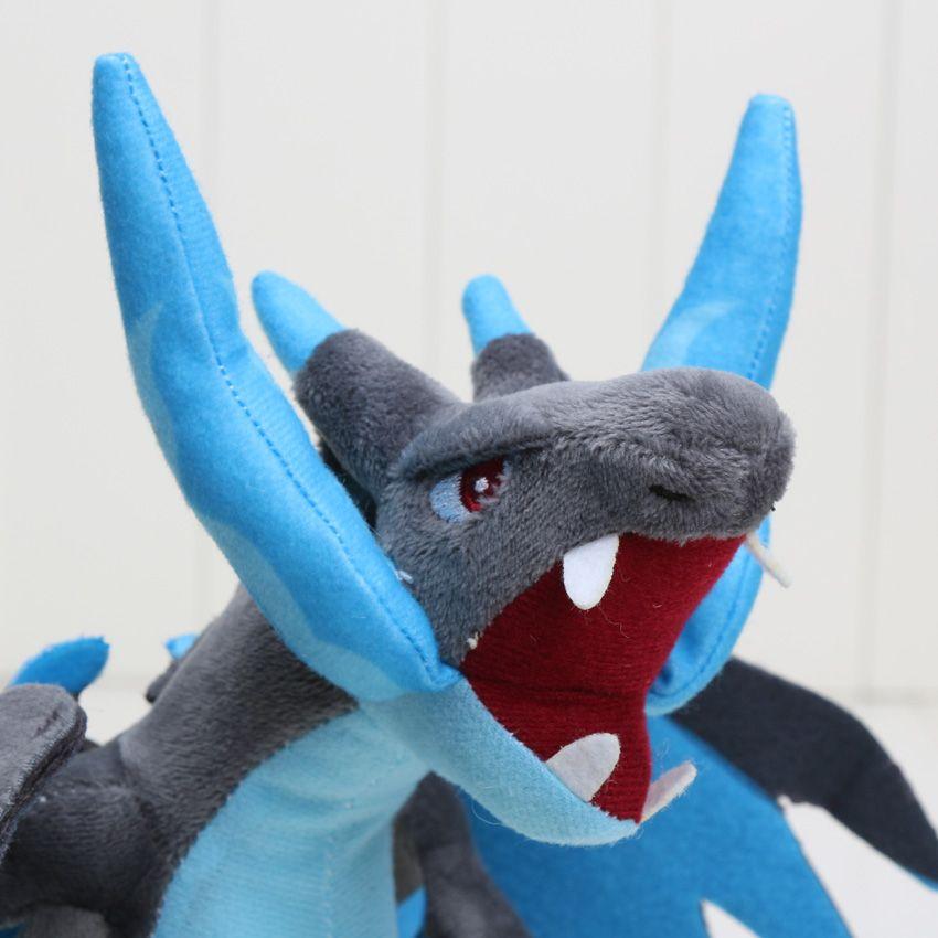 Nuevo 25cm CENTER Plush Doll Mega Charizard X Y pikachu juguetes de peluche Buena Calidad 10