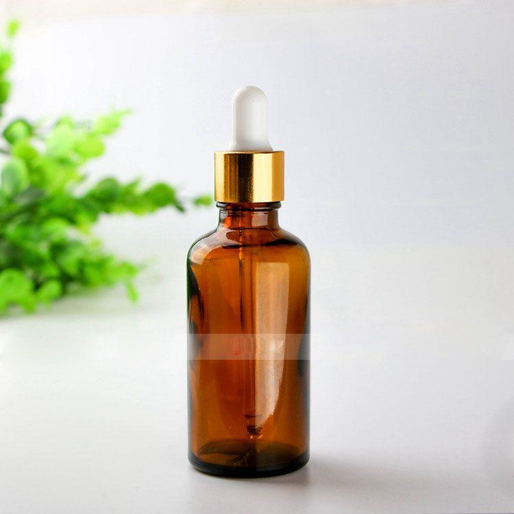 Free DHL 6 Tops for choose 50ml Glass Essential Oil Bottles Dropper Cap Amber Dispenser 50ml Glass Dropper Bottles