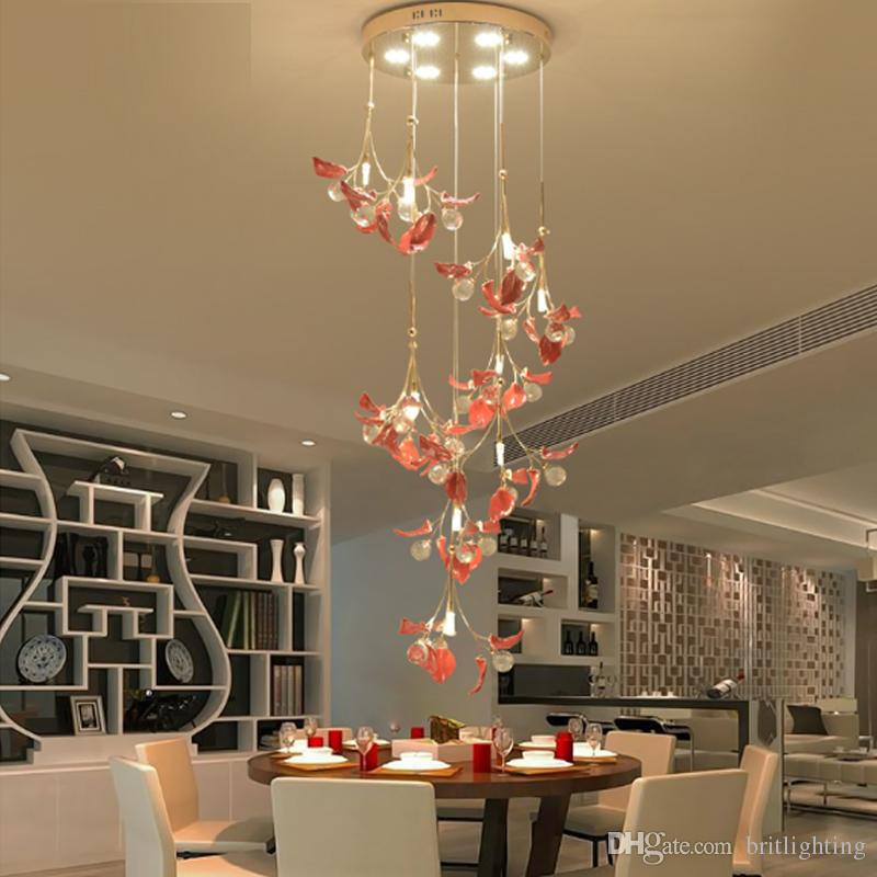 European Crystal Pendant Light Living Room Pendant Light Simple Impressive Living Room Pendant Light