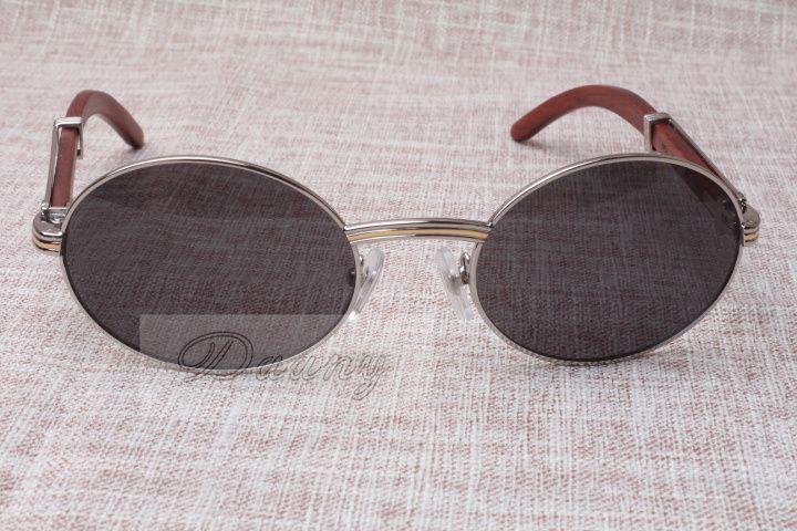 نظارات شمسية مستديرة الماشية القرن النظارات 7550178 الخشب الرجال والنساء نظارات شمسية النظارات النظارات الحجم: 55-22-135mm