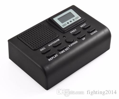 Telephone Voice Recorder Phone Call Monitor With LCD Display Wired Phone recorder Automatically record phone calls Support SD Card black