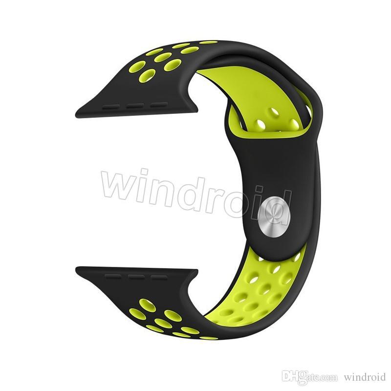 Nouveau Sport Arrivé Silicone Plus Trou Bandes Sangles Pour Apple Watch Série 1/2 Bandeau Bracelet 38 / 42mm Bracelet VS Fitbit Alta Blaze Charge Flex