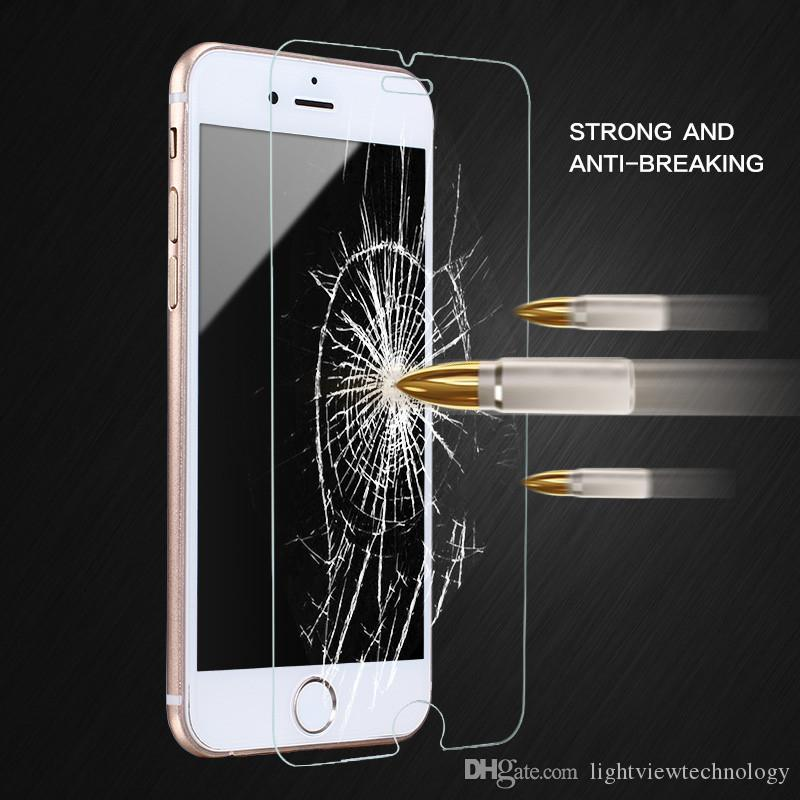 new arrival 5417c 2f856 For iPhone 8 Plus iPhone X 0.26mm 2.5D 9H Tempered Glass Screen Protector  For iPhone 7 Plus 6S 5S S7 edge