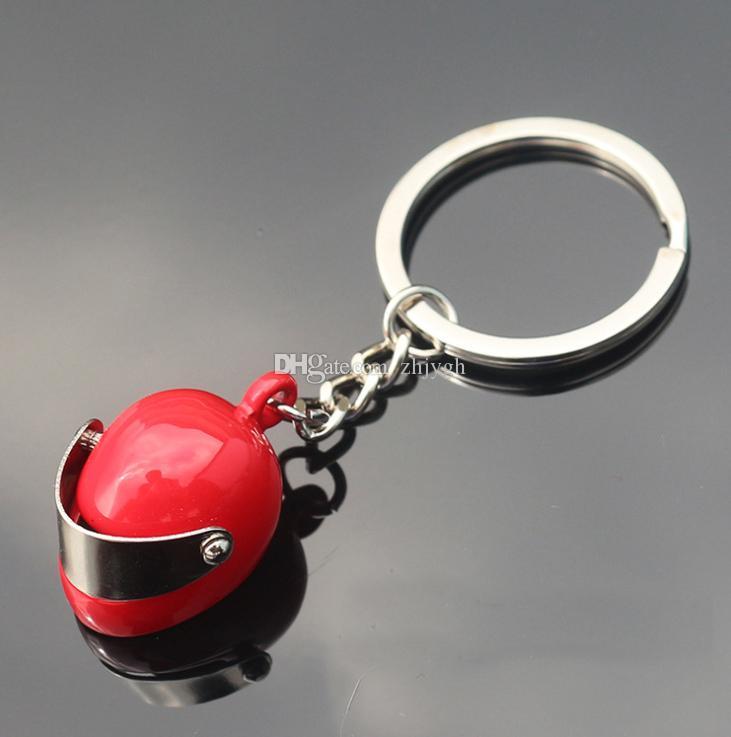 Portachiavi all'ingrosso, anello del portachiavi del metallo del casco del motociclo di personalità creativa del regalo, pendente della catena della catena chiave dell'automobile, trasporto libero