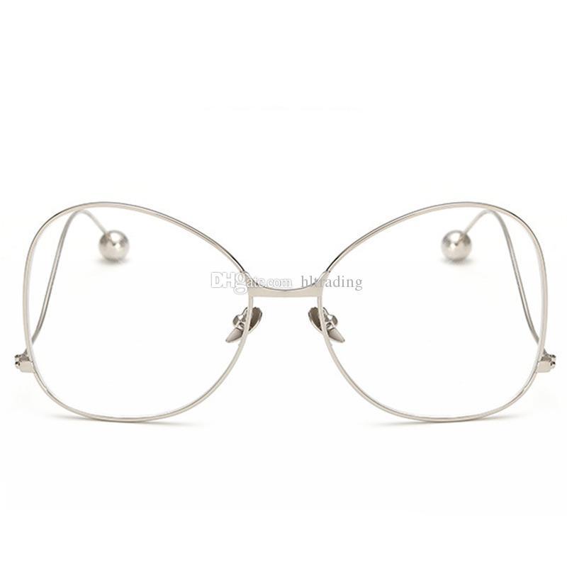 Moda grande Niños Niñas Espejo plano Gafas de marco de acero Gafas de protección contra la radiación es C2081