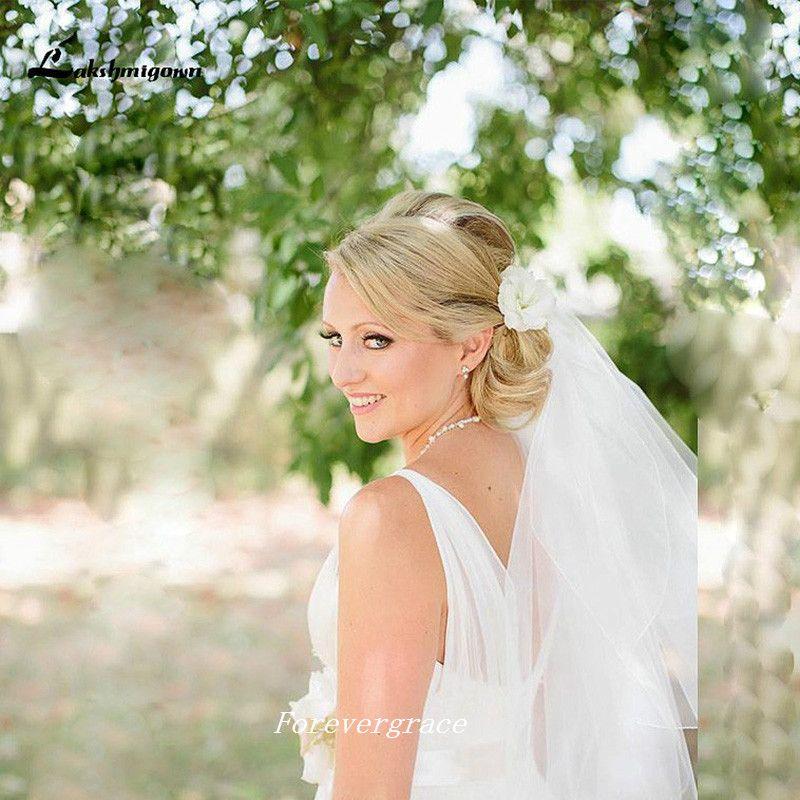 Gotico V Neck Summer Wedding Dress Semplice Boho Backless Women Abito da sposa Plus Size Vestido De Noiva Longo