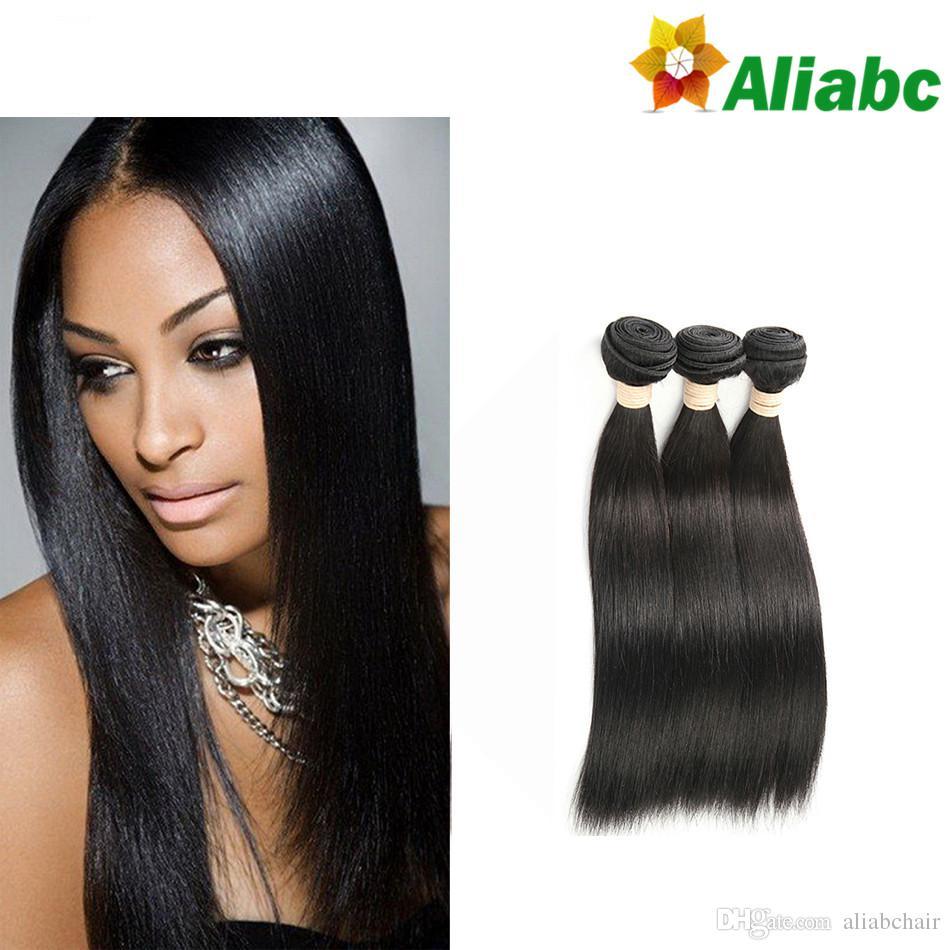 7a Brazilian Virgin Hair Straight Human Hair Extension Aliabchair