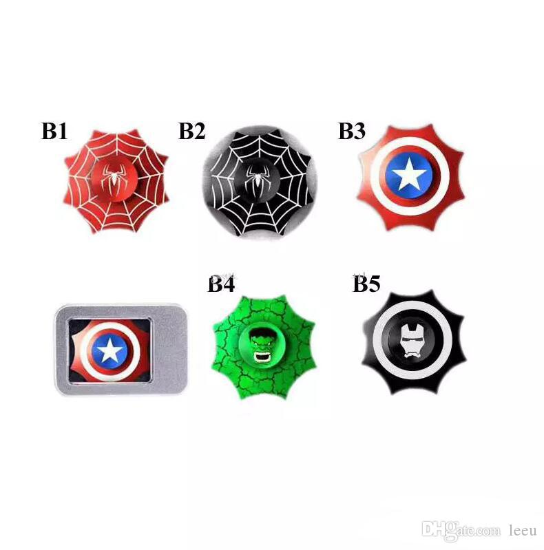 Fidget Spinners Toy Spinner mano in lega d'oro metallo Multi Style Bearing CNC EDC Finger Tip rotazione ansia Hand Spinners Giocattoli