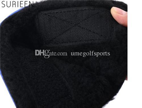 Sıcak Yeni Golf Başkanı Kapak ile Yüksek Kalite PU Golf Atıcı protecter Oyalamak Kırmızı Yeşil Mavi Siyah 4 renk