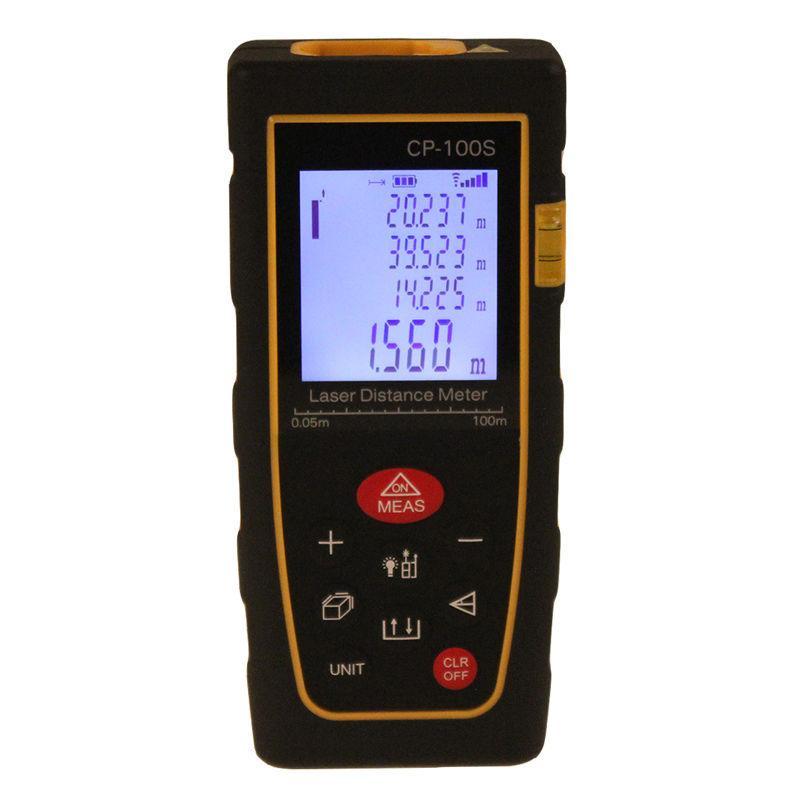 Télémètre tenu dans la main de mètre de distance de mètre de distance de laser d'affichage à cristaux liquides de Digital de 100m / de 328ft