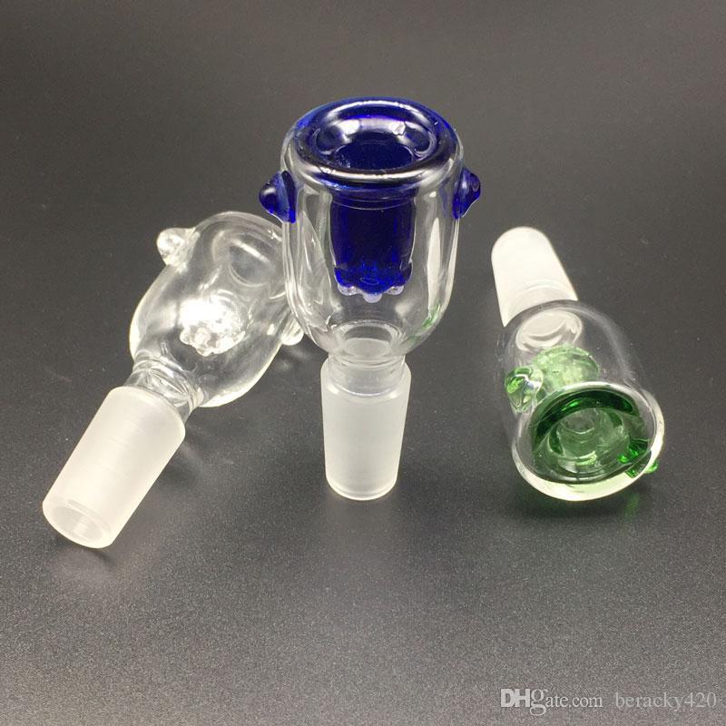 Аксессуары для курения стеклянные чаши 10 мм 14 мм 18 мм мужской женский сустав 3 цвета дополнительный стеклянный шар для нефтяных вышек стеклянные бонги Dab буровые установки