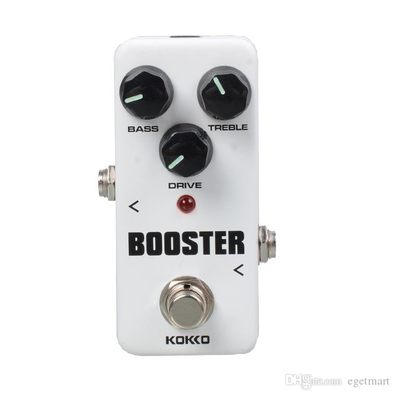 KOKKO FBS2 Mini Booster Effect Pedal Portable 2-Band EQ Guitar Effect Pedal with Gold Guitar connector