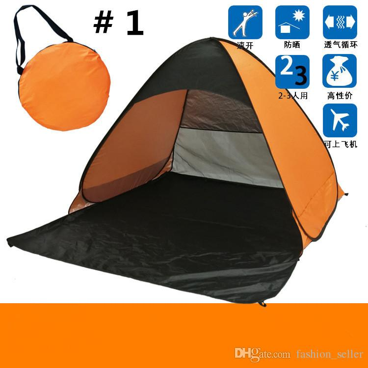 Summer Tents Quick Automatic Opening 50+ UV Protection Outdoor Gear Camping Shelters Tent Beach Travel Lawn Multicolor Dropshipping