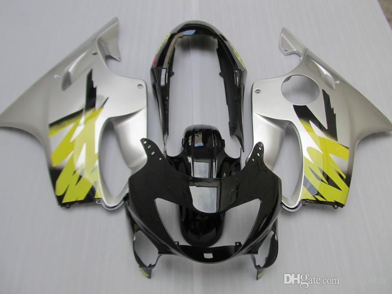 Injection fairing kits for Honda CBR600 F4 1999 2000 silver black ABS plastic fairings set CBR 600 F4 99 00