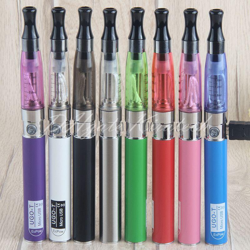 Vape eGo pen 5pin micro usb charger 650 mah battery vaporizer ego-t ugo-t blister kit packing ce4 ecig kits Factory Price Wholesale