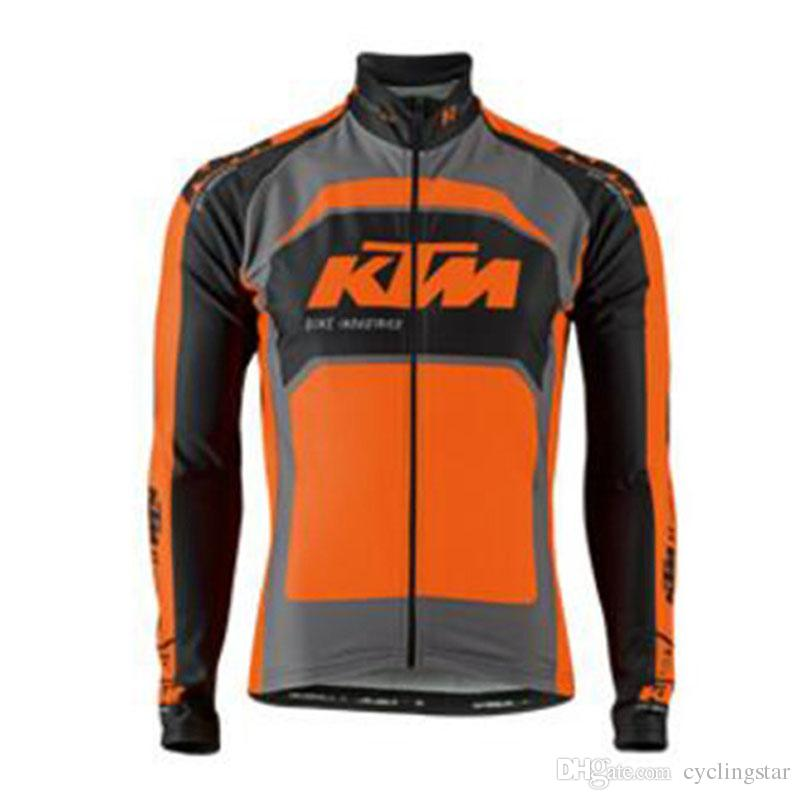 Pro Team KTM Men Cycling Jersey Long Sleeves Bike Shirt tour de france Bicycle Clothing Wear Breathable Sportswear mtb Clothes C0130