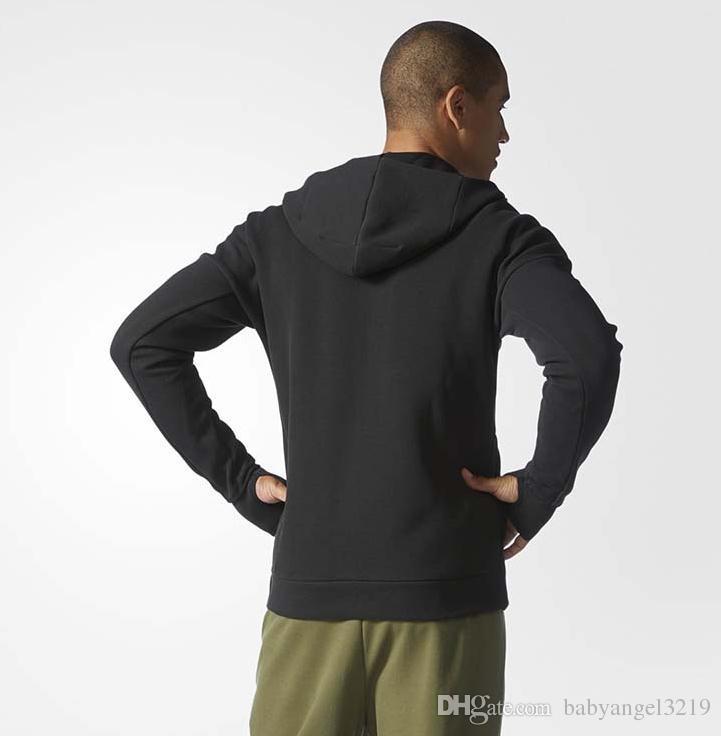 ZNE أوريجينالز إضافة البلوز الرجال النساء بلون هوديس عارضة الجانب سستة عشاق الرياضة البدلة سليم الرياضة sware الأسود هودي