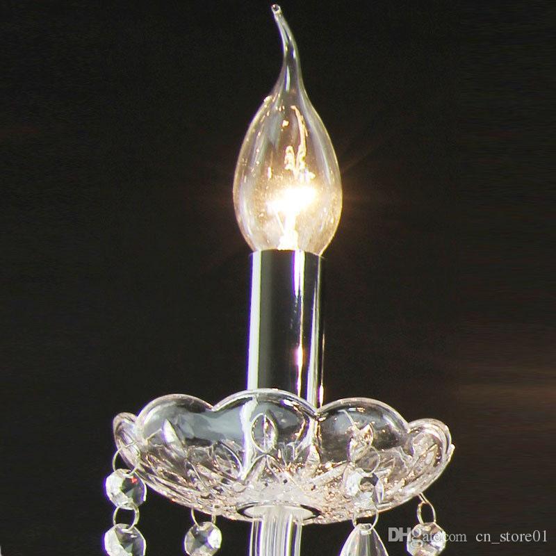 Trasporto libero lampada da parete di cristallo lustri di cristallo trasparente applique da parete luci oltre lampada la casa coperta decorazione moderna parete luce