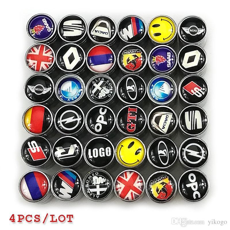 Car Wheel Tire Valves Tyre Stem Air Caps Cover For Bmw audi toyota honda civic s line kia alfa mini saab vw mercedes