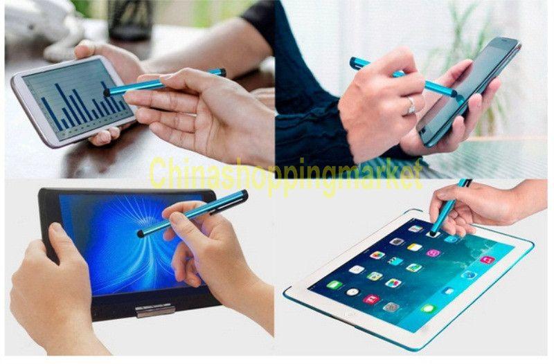 Capacitiva Lápiz óptico Pantalla táctil Pluma altamente sensible para iPad 2 3 4 iPhone Xr Xs Max 8 7 6 Plus Samsung Tablet Teléfono móvil