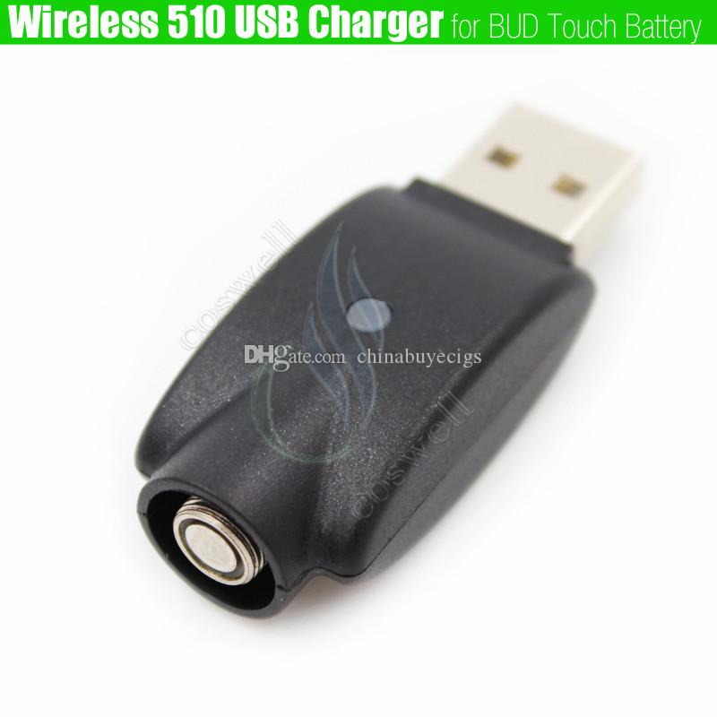 Wireless 510 mini USB Charger adapter BUD touch ego thread battery IC Protection e cigs Electronic Cigarette esmart Cartridges chargers DHL