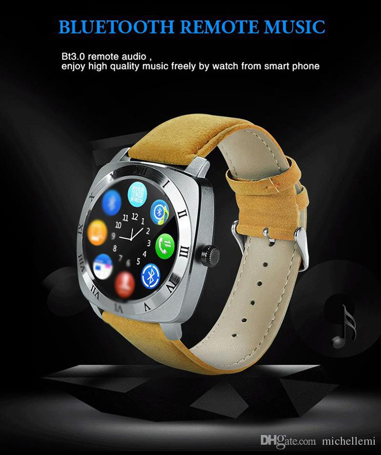 Foreign trade new X3 smart watch 1.5 inch full circle screen touch screen Bluetooth call can be inserted phone card quad-band call WeChat ca