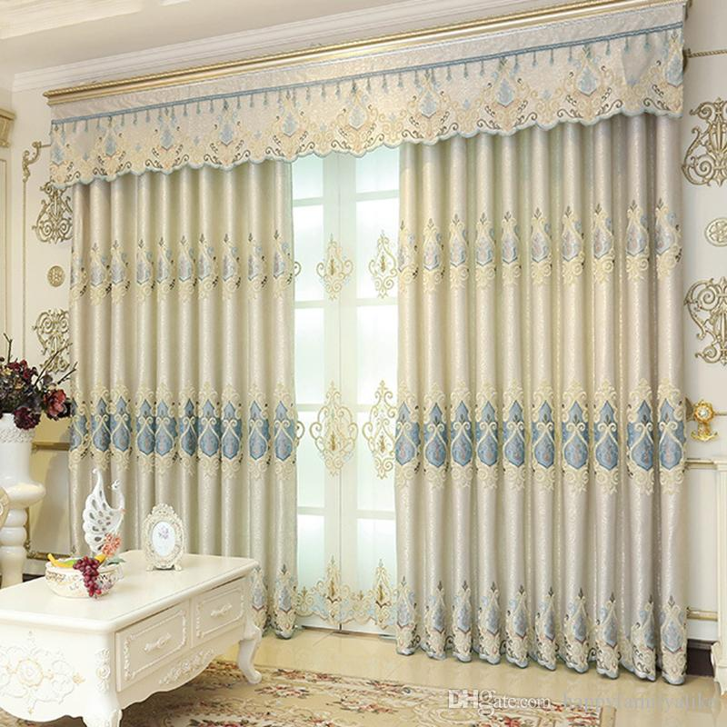 2018 Chenille Blackout Drapes Bedroom Window Curtains Modern French Door  Curtain Embroidered Window Valances 42w/50w/72w Wholesale From  Happyfamilyalike, ...