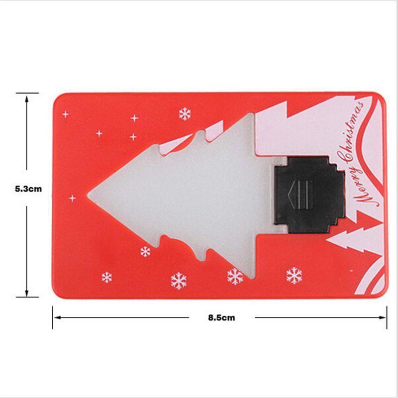 Árvore de Natal de Ano Novo Decoração de Natal de bolso Folding Forma Cartão de Crédito Night Light LED delicado levou luz bolso de cartão