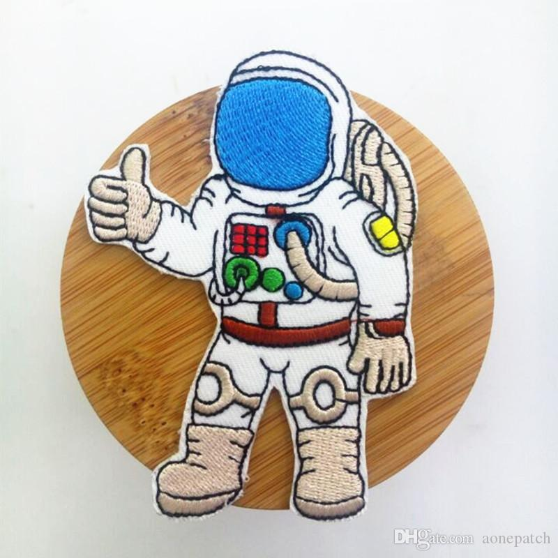 Cosmonaut Astronaut Spaceman with equipment Embroidered applique iron on patch Russia USA AUS UK DIY Apparel Accessories