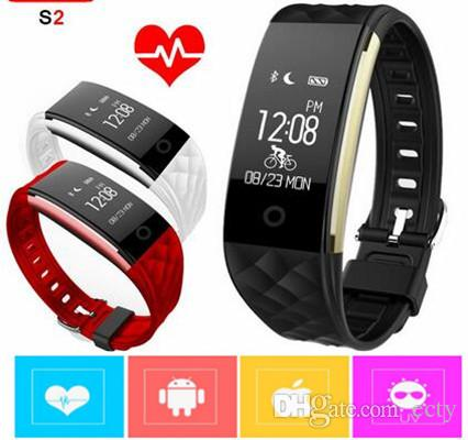 IP67 Dynamic Heart Rate S2 Smartband Wristband Fitness Tracker Smart Watchband bluetooth Bracelet for ios android pk ID107 fitbit tw64