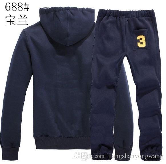 Sweatshirts Mens Polo Tracksuits Winter Jogging Sportsuits Fashion Running Sportswear Big Horse Hoodies Trousers Coats Pants Jackets S-XXL