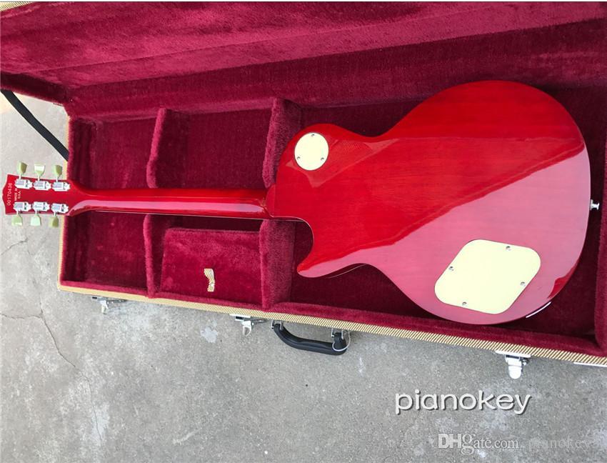 Toptan OEM el yapımı elektrik gitar, maun malzeme gövde ve boyun, özel standart gitar kabul