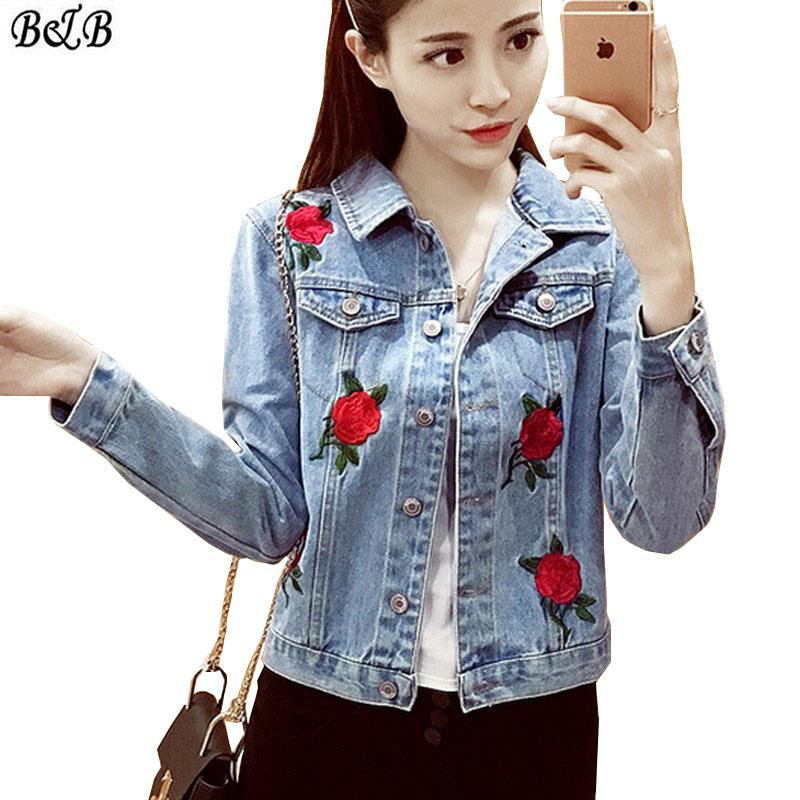 594cba19c Wholesale 2016 Single Breasted Women Jacket Rose Embroidered ...
