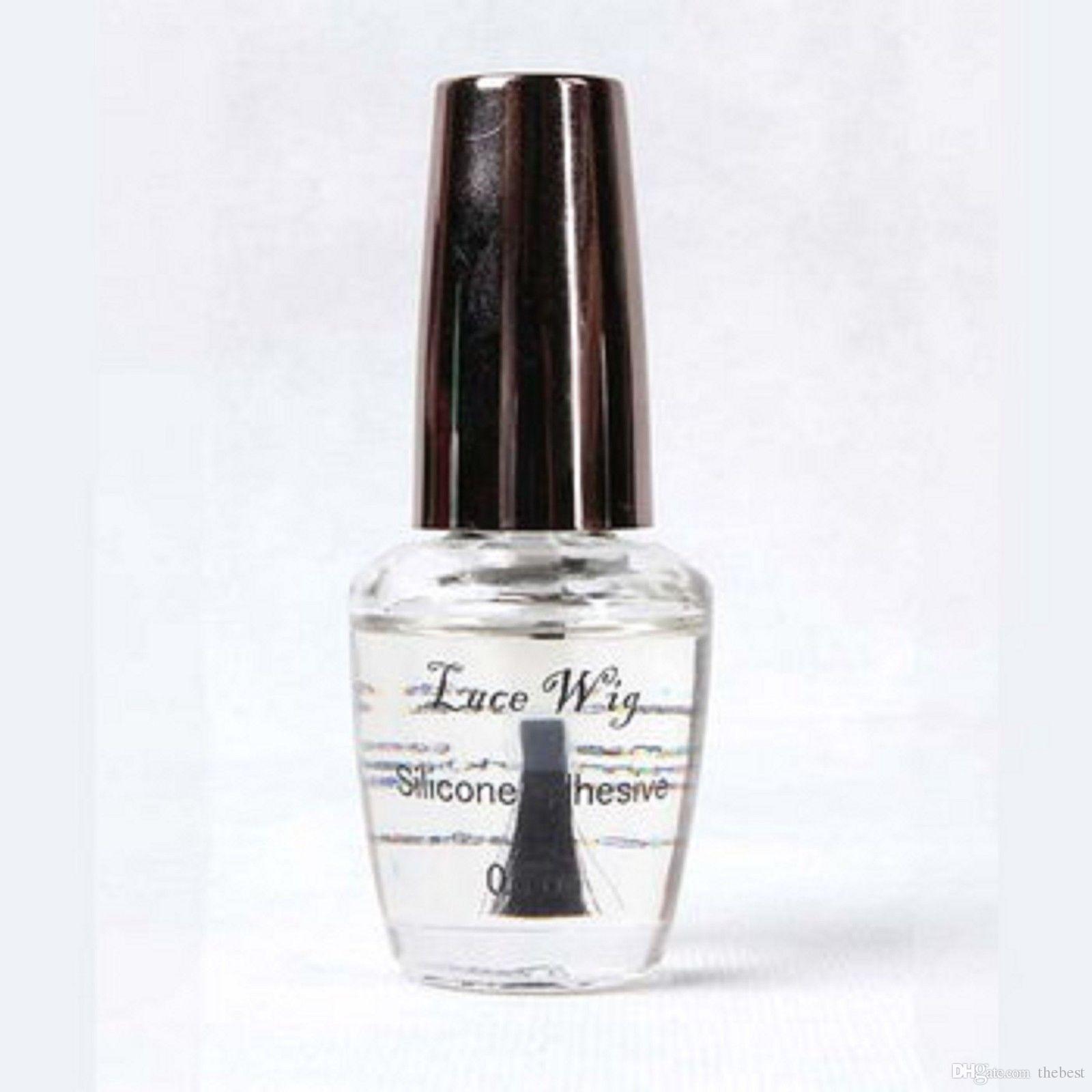 1 botella de 0.5 oz / 15 ml de pegamento adhesivo que hace el pelo de la cinta para el salón de belleza utilice el pegamento del pelo de la peluca
