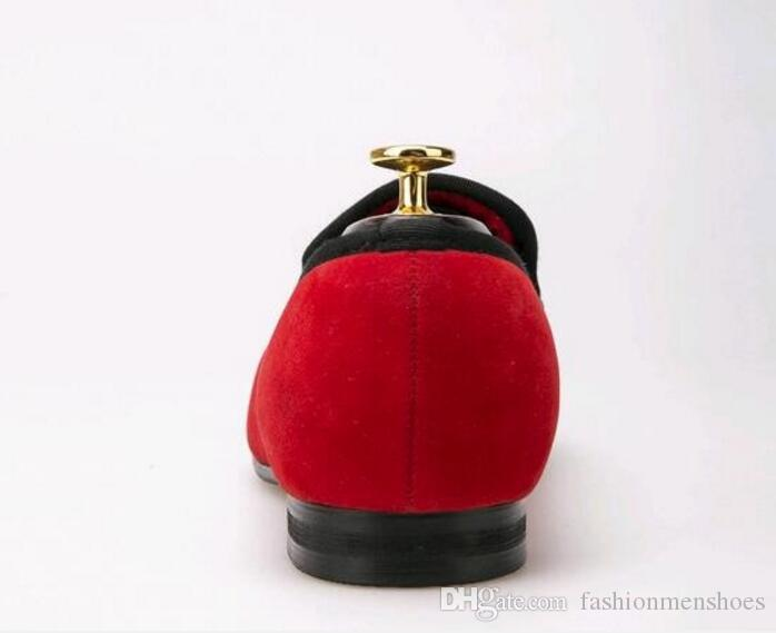 جديد وصول المخملية الرجال الأحذية المتأنق رجال جلدية متعطل الأحمر الرجال أوكسفورد الزفاف شرابة شبشب الرجال الشقق