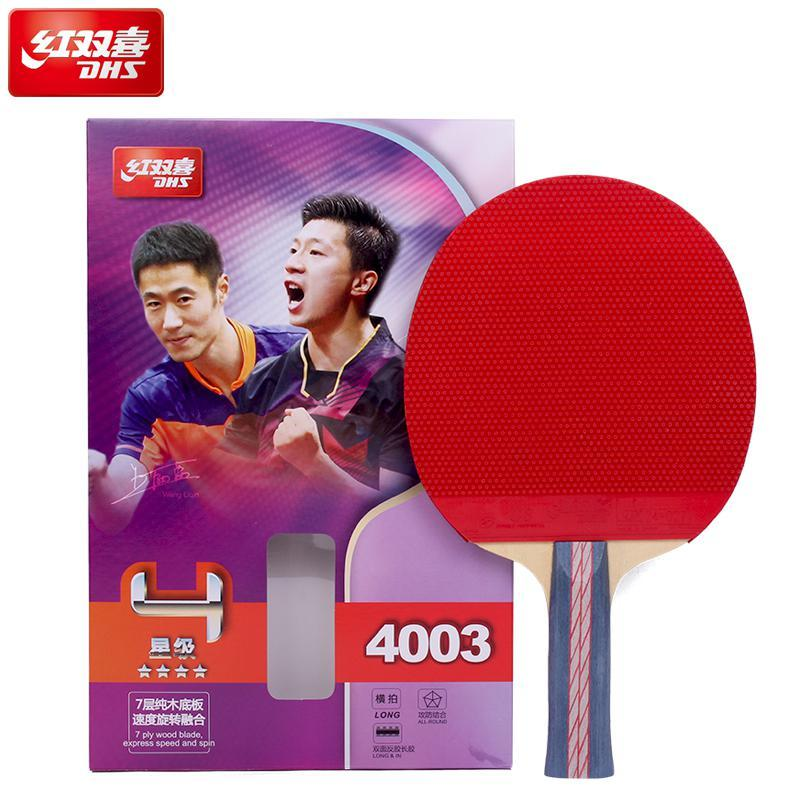 0bc5303bb Compre 100% Original Dhs Raquete De Tênis De Mesa 4003 4006 4007ping Pong  Raquete De Raquetes De Tênis De Mesa Indoo Raquete De Esportes De  Jersey168