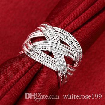 도매 - 소매 최저 가격 크리스마스 선물, 무료 배송, 새로운 925 실버 패션 반지 R24