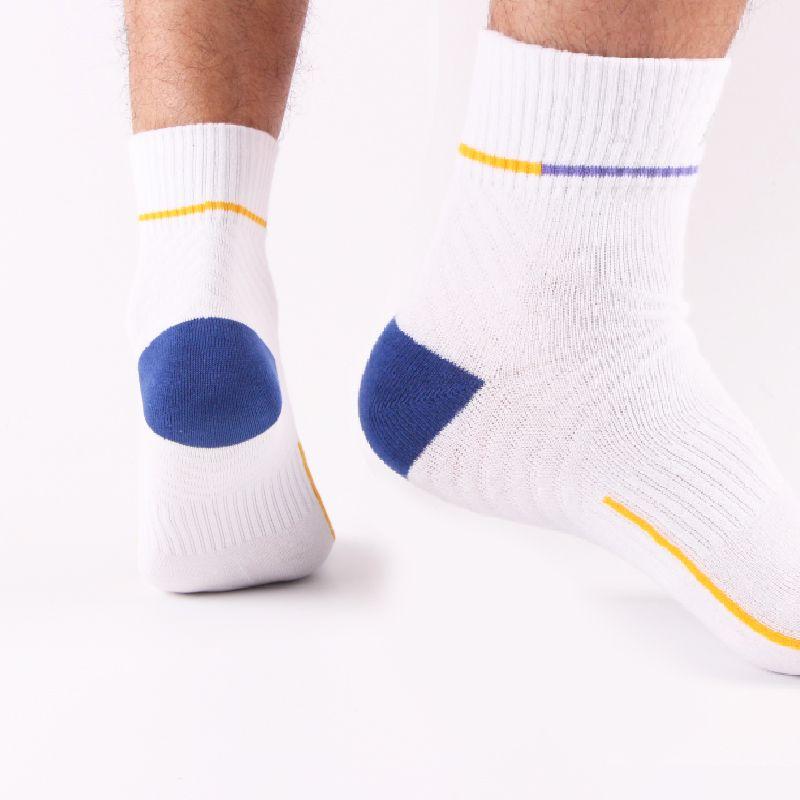 New patter hot men's socks wholesale quality 80% cotton Fashionable leisure breathable deodorant 5-color short pressure socks