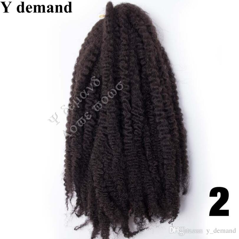 Y richiesta Hot Sale 18 '' 100g Afro Kinky Curling Twist capelli Crochet Treccia Marley Braid Estensione dei capelli Senegalese Twist Crochet Hairing Hair