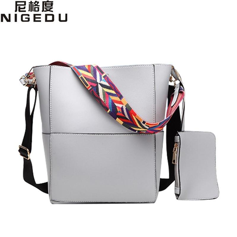 1f08dd509314 Wholesale Color Wide Shoulder Straps Shoulder Bag For Large Women Handbags  Leather Messenger Bags European Style Women S Tote Bucket Bag Ladies  Handbags ...